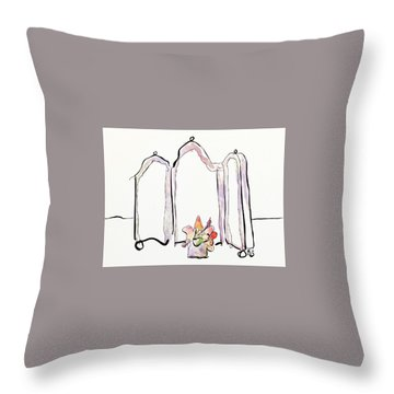 Sketch Mirror Throw Pillow