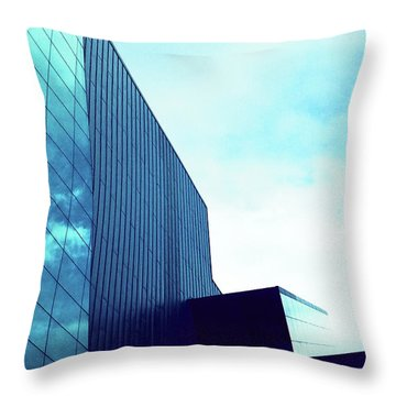 Mirror Building 1 Throw Pillow