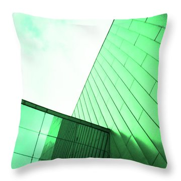 Mirror Building 2 Throw Pillow
