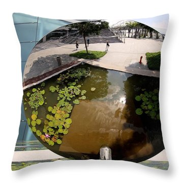 Mirror Image In Singapore Throw Pillow by Diane Height