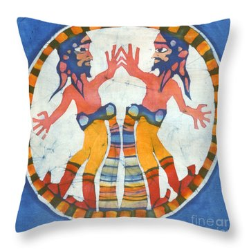 Mirror Image Pirates Throw Pillow by Carol  Law Conklin