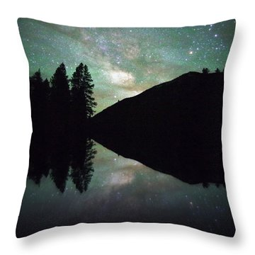 Mirror In The Mountains Throw Pillow by Matt Helm