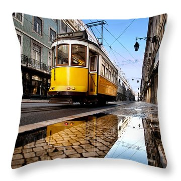 Mirror Throw Pillow by Jorge Maia