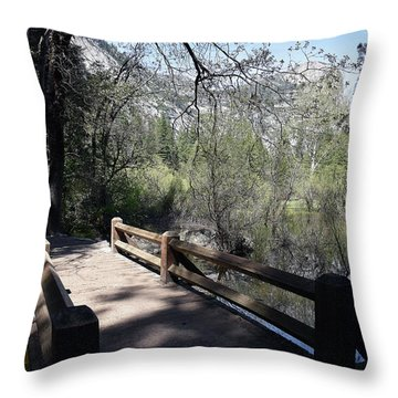 Mirror Lake At Yosemite National Park Throw Pillow