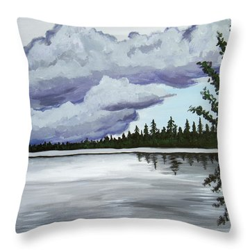 Mirror Lake Throw Pillow by Christie Nicklay
