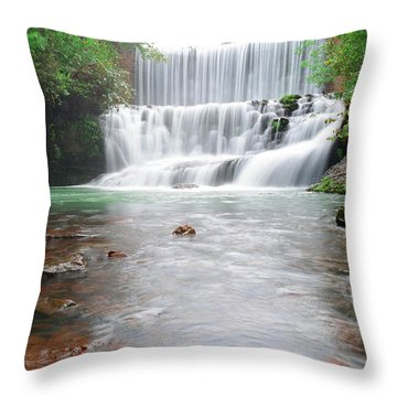 Throw Pillow featuring the photograph Mirror Lake Falls 2 by Renee Hardison