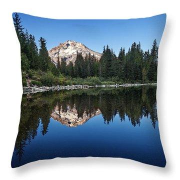 Mirror Lake Throw Pillow by Ian Good