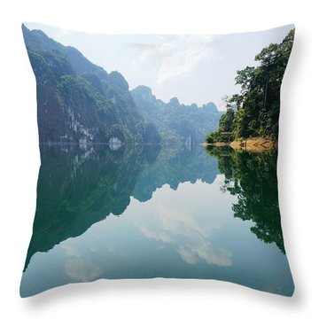 Throw Pillow featuring the photograph Mirror Lake by Julia Ivanovna Willhite