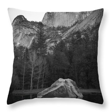 Mirror Lake Rock Throw Pillow