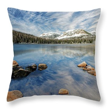 Throw Pillow featuring the photograph Mirror Lake by Scott Read