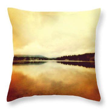 Mirror Lake At Sunset Throw Pillow