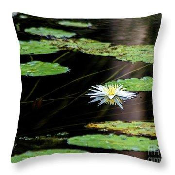Mirror Lily Throw Pillow