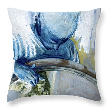 Throw Pillow featuring the painting Mirror Mirror by Rene Capone