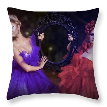Throw Pillow featuring the photograph Mirror Mirror by Ryan Smith