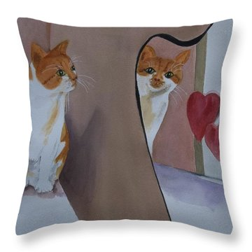 Mirror, Mirror Throw Pillow