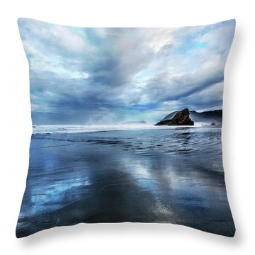 Throw Pillow featuring the photograph Mirror Of Light by Debra and Dave Vanderlaan