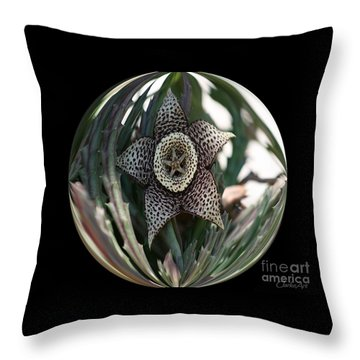 Captured Carrion Succulent Throw Pillow