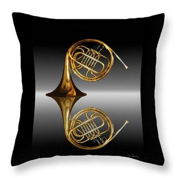 Throw Pillow featuring the photograph Mirrored Horn by Joe Bonita