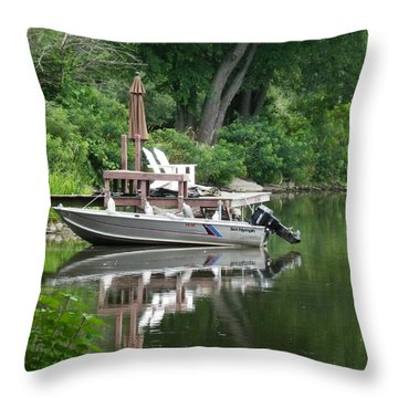 Mirrored Journey Throw Pillow