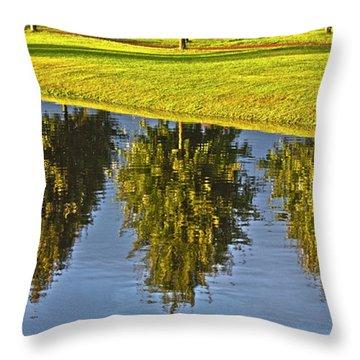 Mirroring Trees Throw Pillow by Heiko Koehrer-Wagner