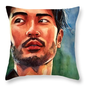 Throw Pillow featuring the painting Mirrors Of Perception by Michal Madison