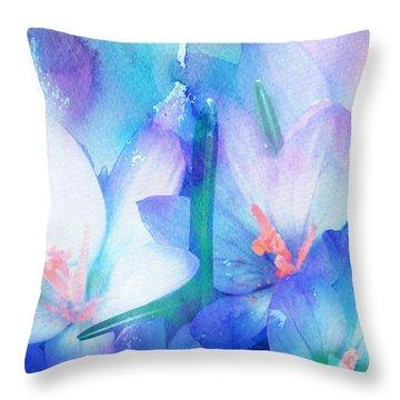 Throw Pillow featuring the digital art Mirthfulness by Klara Acel