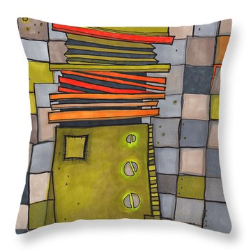 Misconstrued Housing Throw Pillow by Sandra Church