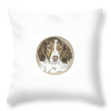 Throw Pillow featuring the painting Miss Abby by Carol Wisniewski