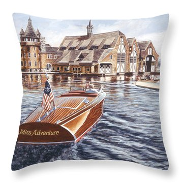 Miss Adventure Throw Pillow by Richard De Wolfe