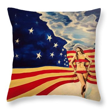 Miss America? Throw Pillow