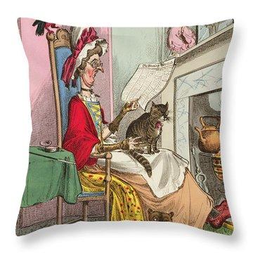 Miss Ann Thropy Throw Pillow