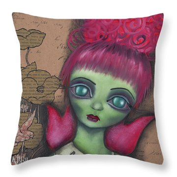 Miss Argentina Throw Pillow by Abril Andrade Griffith
