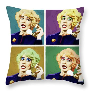 Miss Babs, Acorn Antiques Throw Pillow