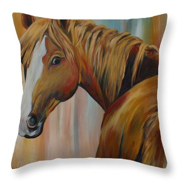 Miss Candi Throw Pillow by Cher Devereaux