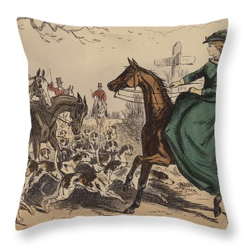 Miss De Glancey Captivates The Earl Throw Pillow