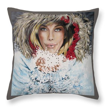 Remarkable Russian Girl.            From The Attitude Girls  Throw Pillow