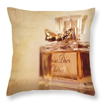 Miss Dior Throw Pillow by Susan Bordelon