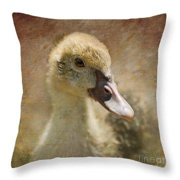 Miss Duck Throw Pillow