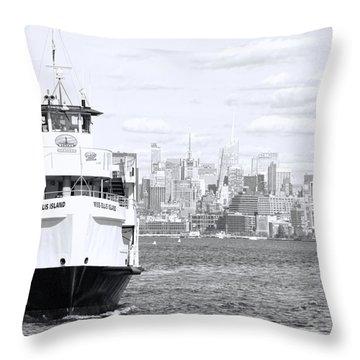 Miss Ellis Island Throw Pillow