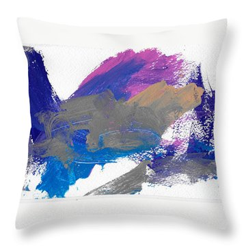 Miss Emma's Abstract Throw Pillow