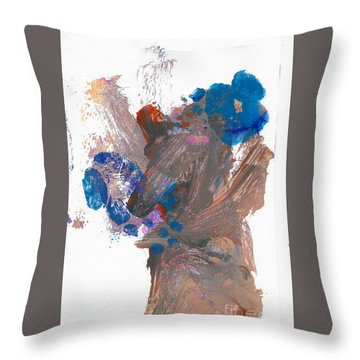 Miss Emma's Flowers Throw Pillow by Fred Wilson