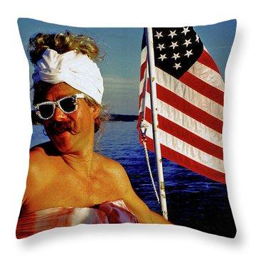 Miss Firecracker Throw Pillow by Michael Durst
