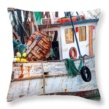 Miss Hale Shrimp Boat - Side Throw Pillow