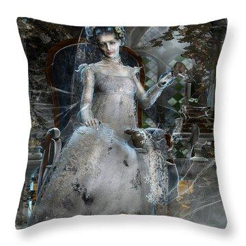 Miss. Havisham Throw Pillow by Mary Hood