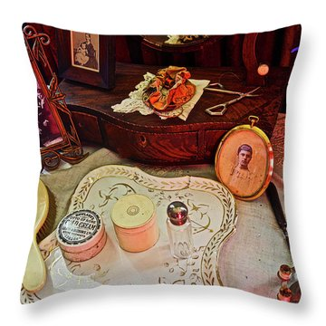 Miss Mary's Table. Throw Pillow