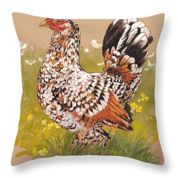 Miss Millie Fleur Throw Pillow