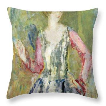 Miss Nancy Cunard Throw Pillow by Ambrose McEvoy