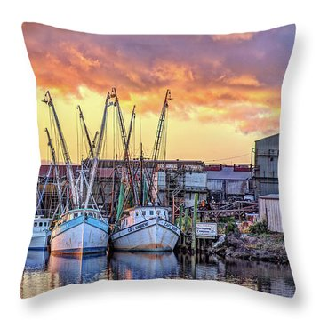 Miss Nichole's Shrimping Company Throw Pillow