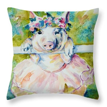 Miss Piggy At The Bar Throw Pillow
