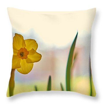 Miss Yellow Throw Pillow